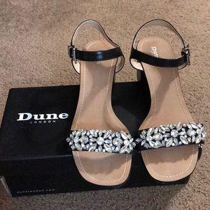 Dune London Mahala Leather Block Heel Sandal